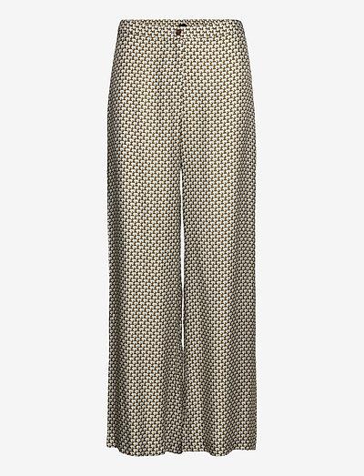 3437 - Sasha Flex - bukser med brede ben - blue