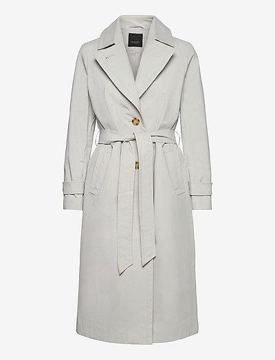Techno Cotton W - Clareta Belt - trenchcoats - light pearl white