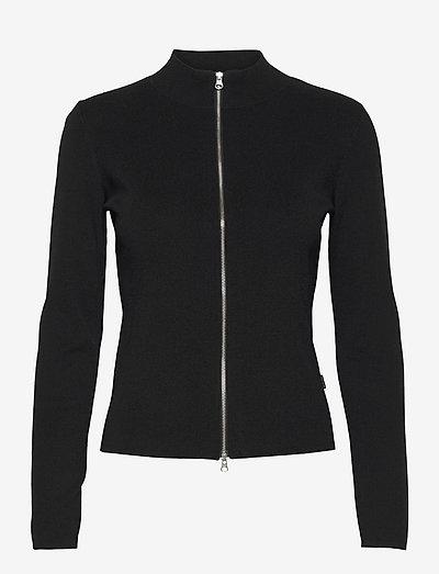 5181 - Della Zip - cardigans - black