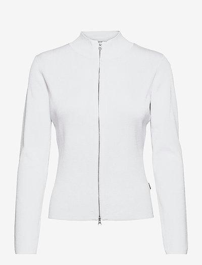 5181 - Della Zip - cardigans - white