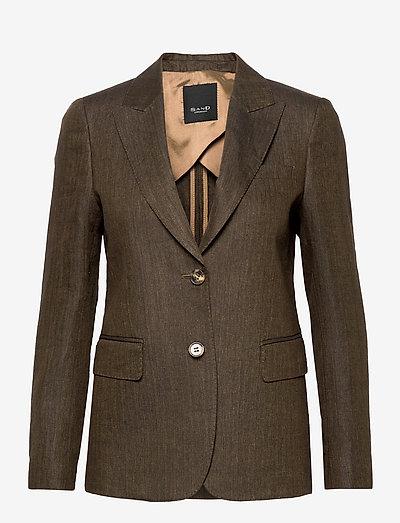 6669 WW - Ginette Pointy 1/2 - enkeltradede blazere - army green