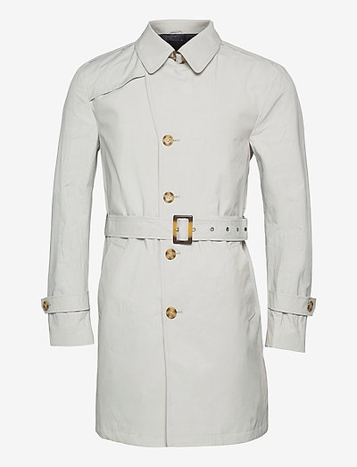 Techno Cotton - Single Trench - trenchcoats - off white