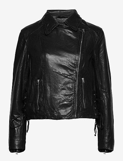 Vintage Lamb Leather - Natale - læderjakker - black