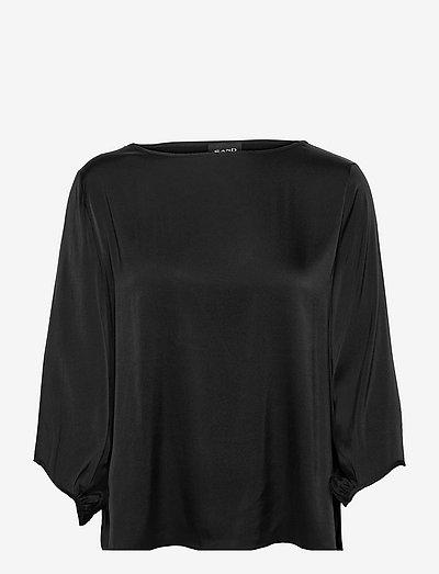 3176 Matt - Nova - langærmede bluser - black