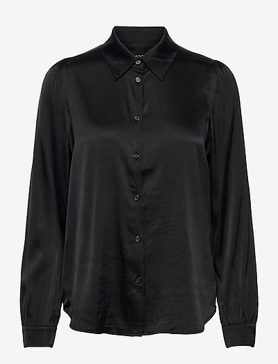 3176 Matt - Latia Puff - langærmede skjorter - black