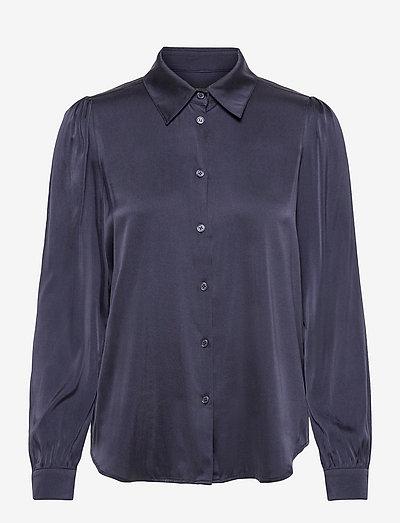 3176 Matt - Latia Puff - langærmede skjorter - dark blue