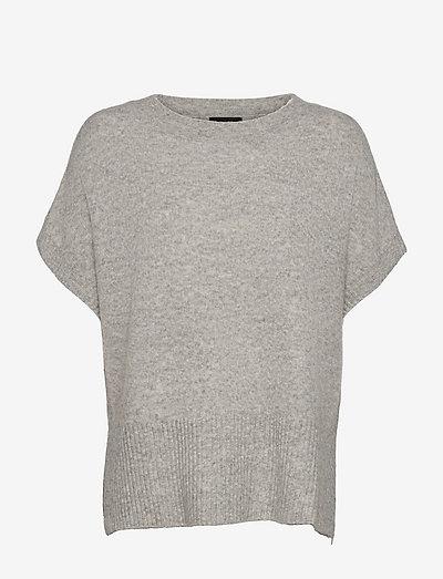 5210 - Izadi S - strikkede toppe - light grey