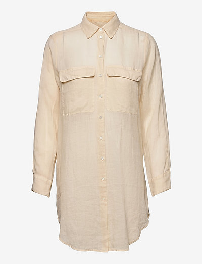 8851 - Nami Long - langærmede skjorter - light beige