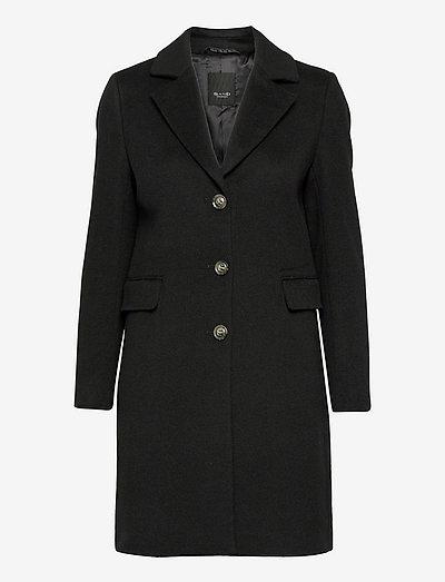 Cashmere Coat W - Britni 2 - vinterfrakker - black