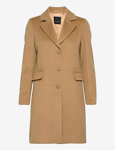 Cashmere Coat W - Britni 2 - vinterfrakker - light camel