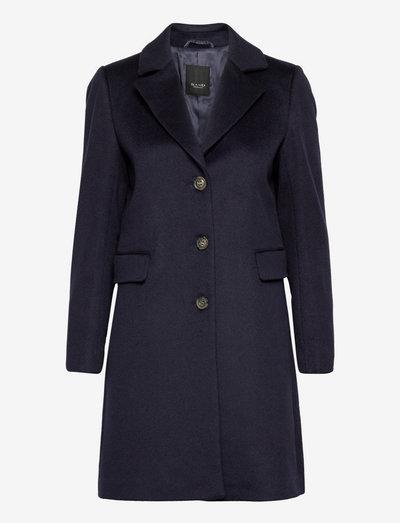 Cashmere Coat W - Britni 2 - vinterfrakker - medium blue