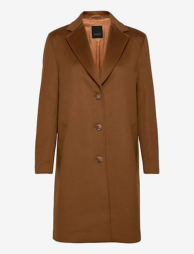 Cashmere Coat W - Ecre - vinterfrakker - brown