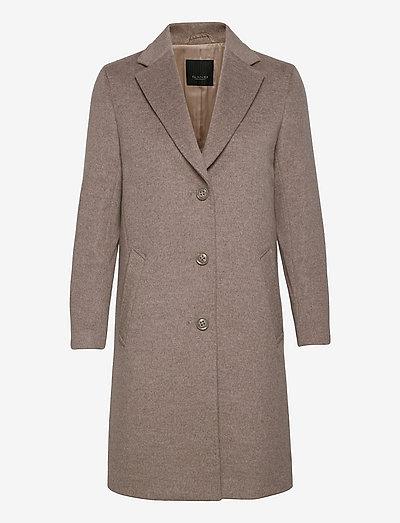 Cashmere Coat W - Ecre - vinterfrakker - light camel