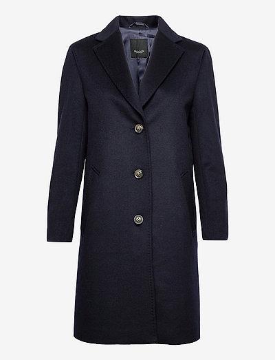 Cashmere Coat W - Ecre - vinterfrakker - medium blue