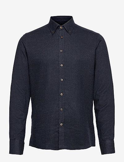 Melton - Simon. - chemises de lin - dark blue/navy