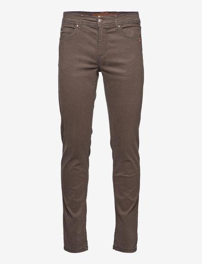 """Suede Touch - Burton NS 32"""" - slim jeans - dark brown"""