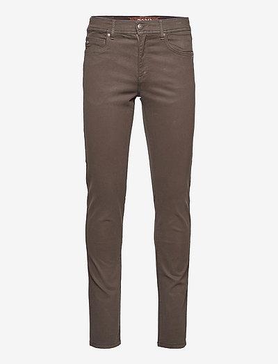 """Suede Touch - Burton NS 34"""" - skinny jeans - dark brown"""