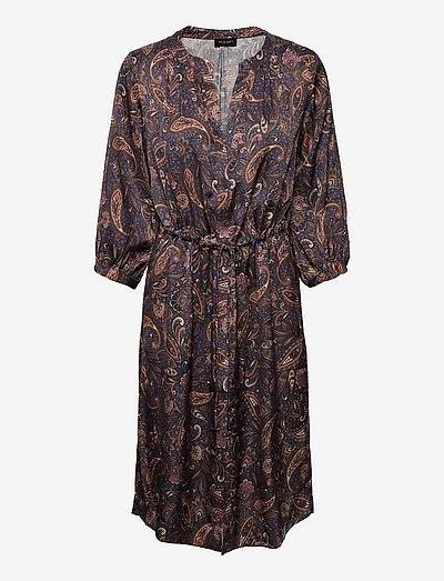 3442 - Zihia Dress V - everyday dresses - medium blue