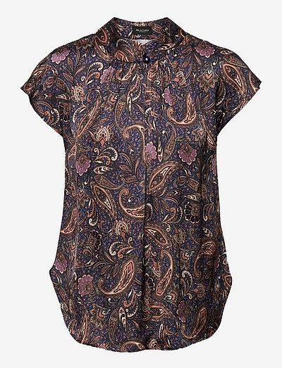 3442 - Prosi Top S - short-sleeved blouses - medium blue
