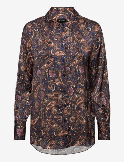 3442 - Saki - langærmede skjorter - medium blue
