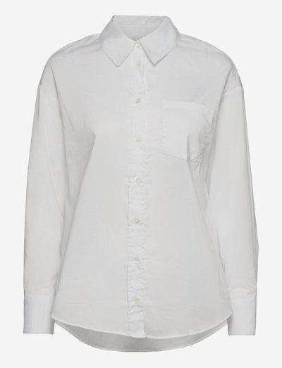Royal Twill WW - Saki S - langærmede skjorter - optical white