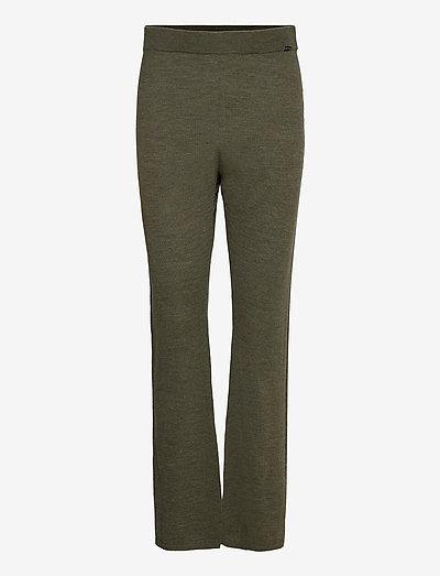 Fellini - Dharma - bukser med lige ben - olive/khaki