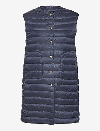 Aria Light R - Sanne Long Vest - vatteret veste - medium blue