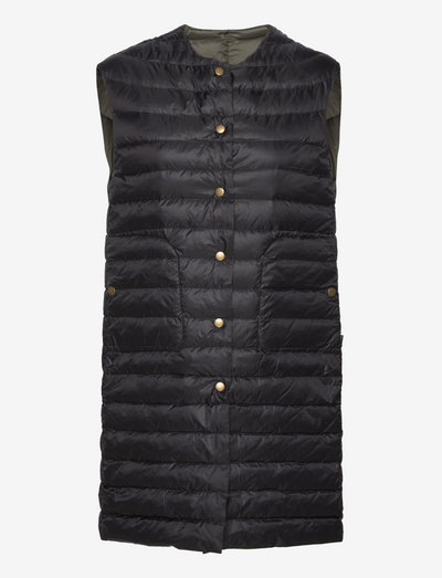 Aria Light R - Sanne Long Vest - vatteret veste - olive/khaki