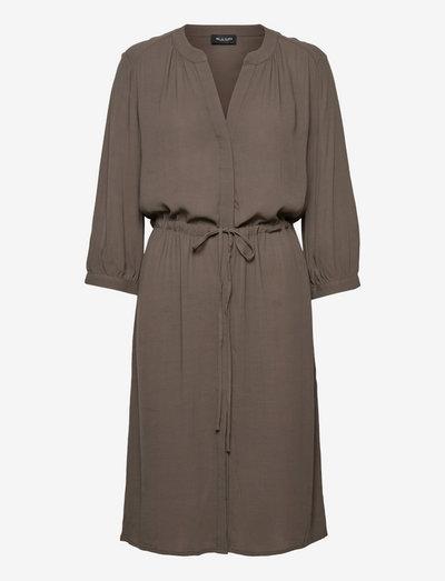 3446 - Zihia Dress V - hverdagskjoler - olive/khaki