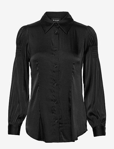3176 Matt - Romane Blouse - langærmede skjorter - black