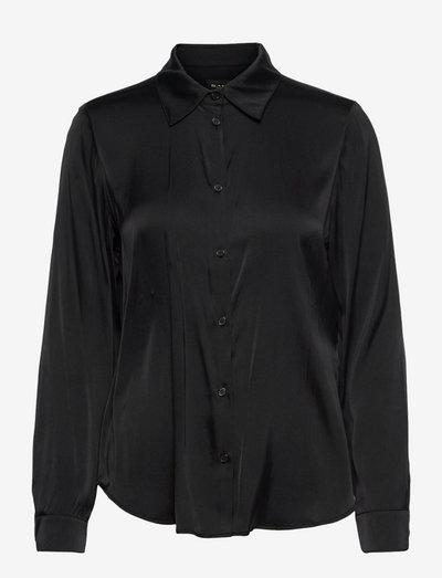 3176 Matt - Latia - langærmede skjorter - black
