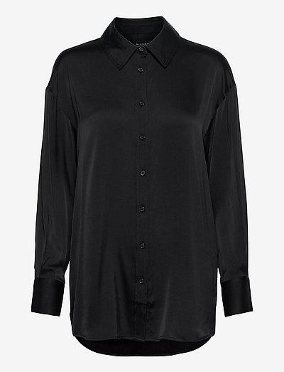 3176 Matt - Saki - langærmede skjorter - black