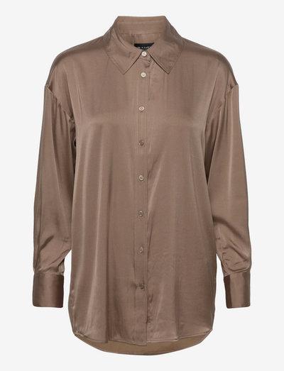 3176 Matt - Saki - langærmede skjorter - golden brown