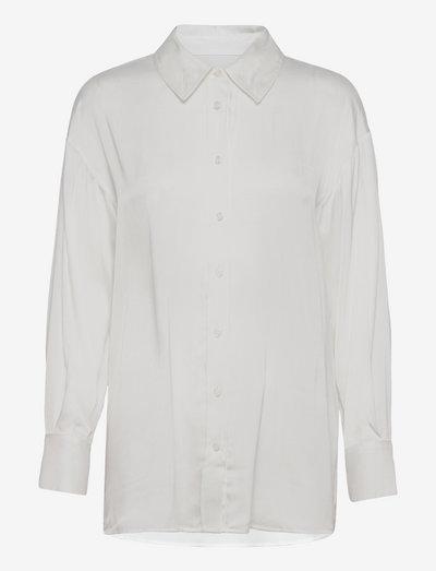 3176 Matt - Saki - langærmede skjorter - off white