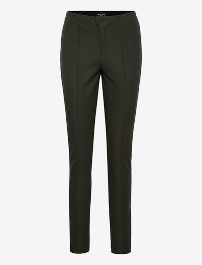0624 - Arella - bukser med lige ben - olive/khaki