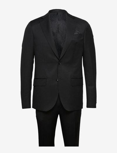 Prunella Mohair - Star Napoli-Craig - enkeltradede jakkesæt - black
