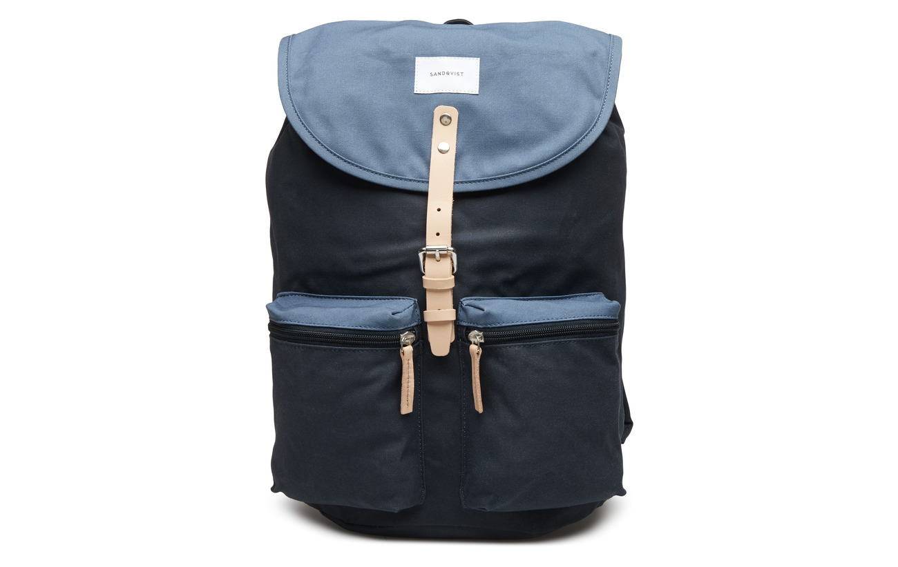 SANDQVIST ROALD - MULTI BLUE / DUSTY BLUE WITH NATURAL LEATHER