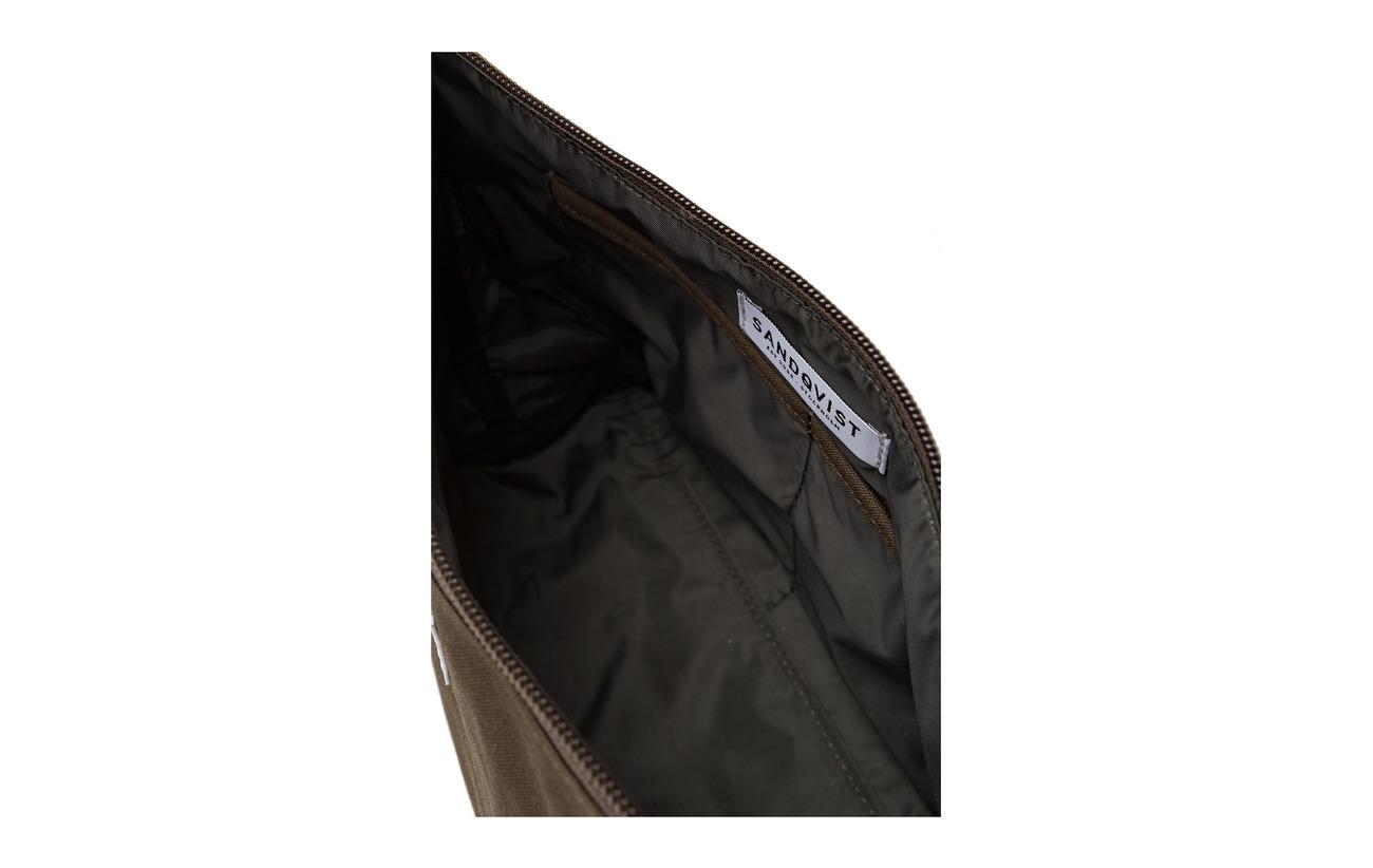 Peau Vache Sandqvist De Recyclé Coton 65 Équipement Olive 35 Détails Intérieure 100 Bio Doublure Polyester Cleo npXYgpqI