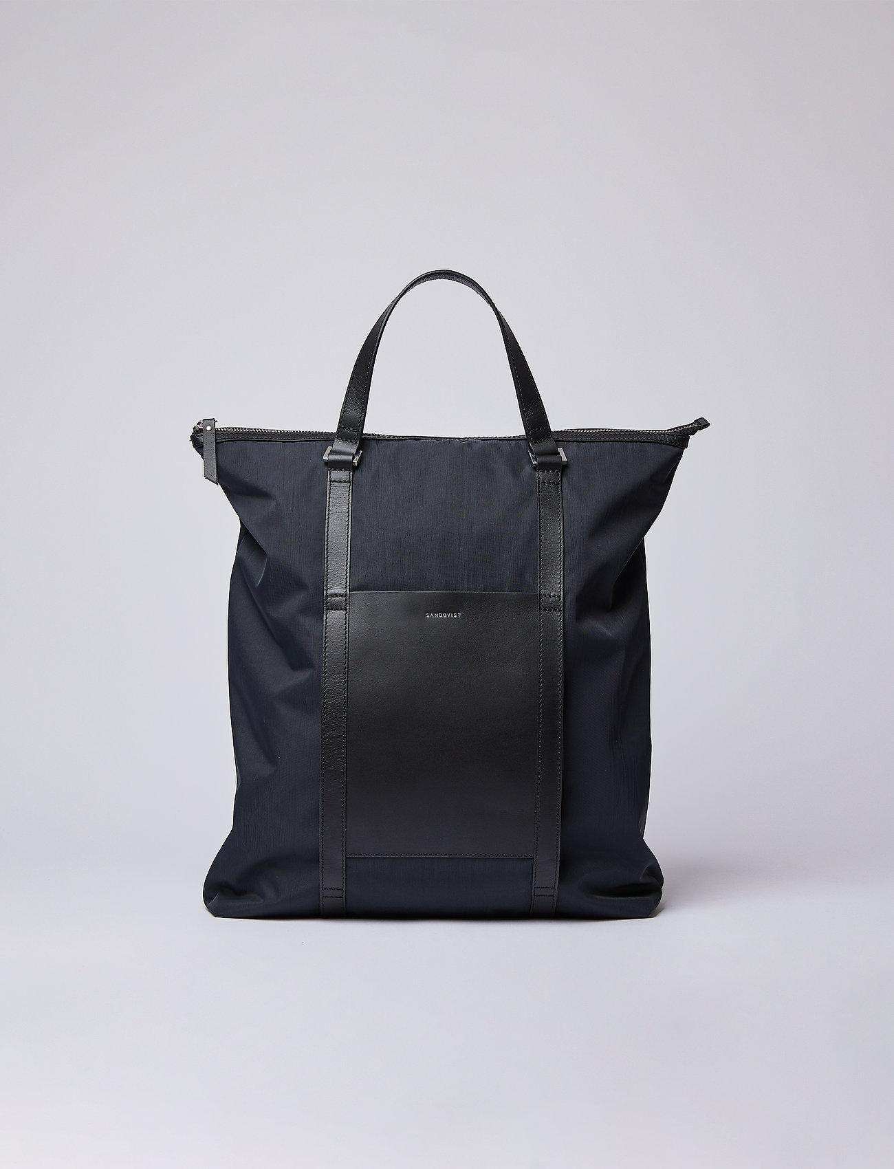 SANDQVIST - MARTA - nieuwe mode - black with black leather - 0