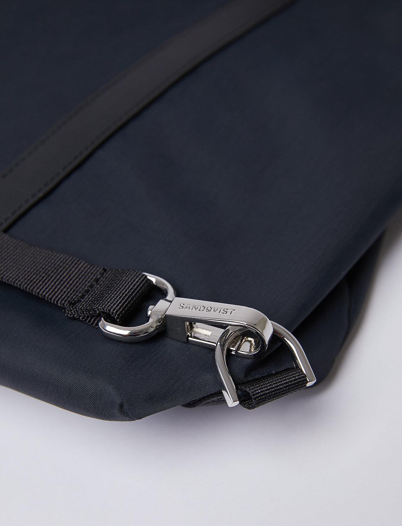 SANDQVIST - MARTA - nieuwe mode - black with black leather - 8