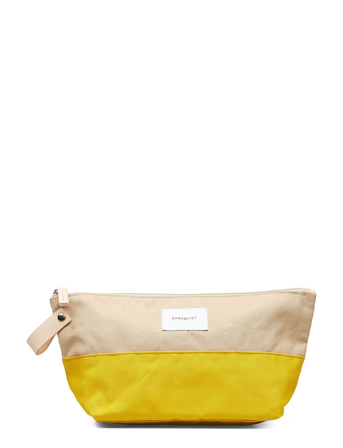 SANDQVIST CLEO - MULTI YELLOW / BEIGE WITH NATURAL LEATHER