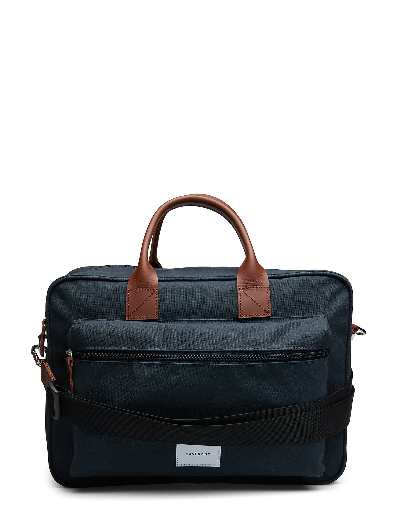 SANDQVIST EMIL - NAVY WITH COGNAC BROWN LEATHER