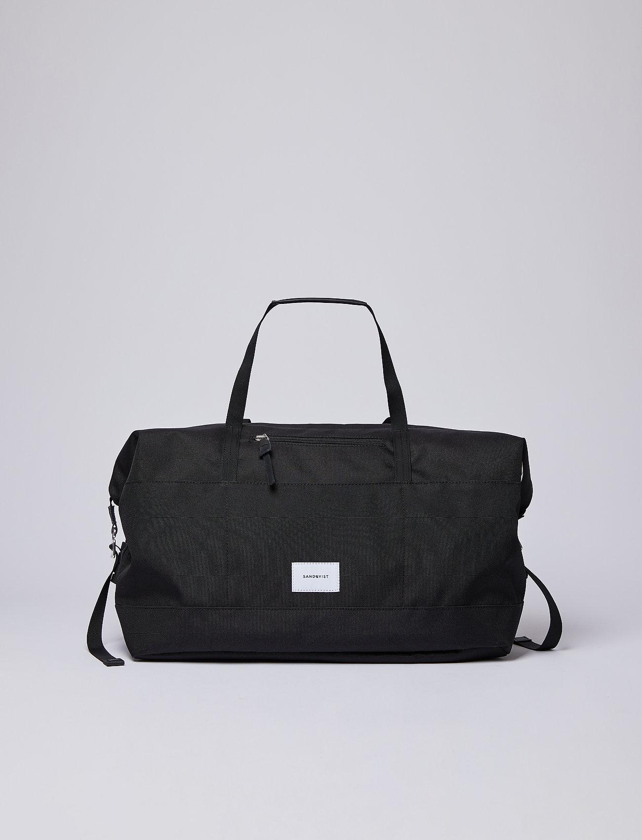 SANDQVIST - MILTON - treenikassit - black with black leather - 0