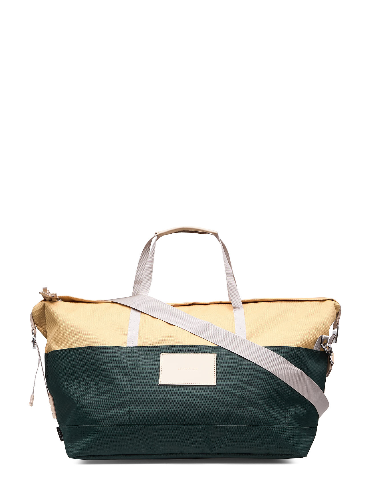 SANDQVIST MILTON - MULTI HONEY YELLOW / DARK GREEN  WITH NATURAL LEATHER