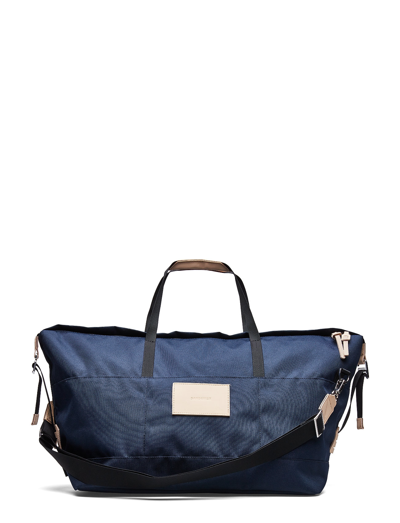 SANDQVIST MILTON - NAVY WITH NATURAL LEATHER