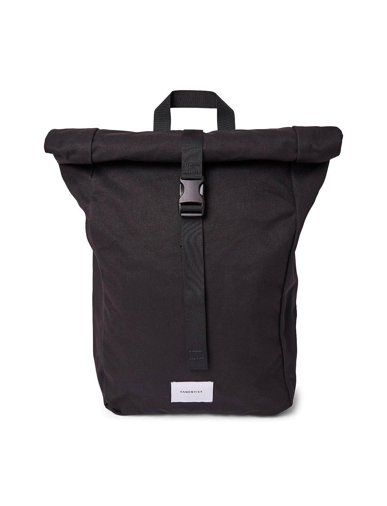 SANDQVIST - KAJ - bags - black with black webbing - 0