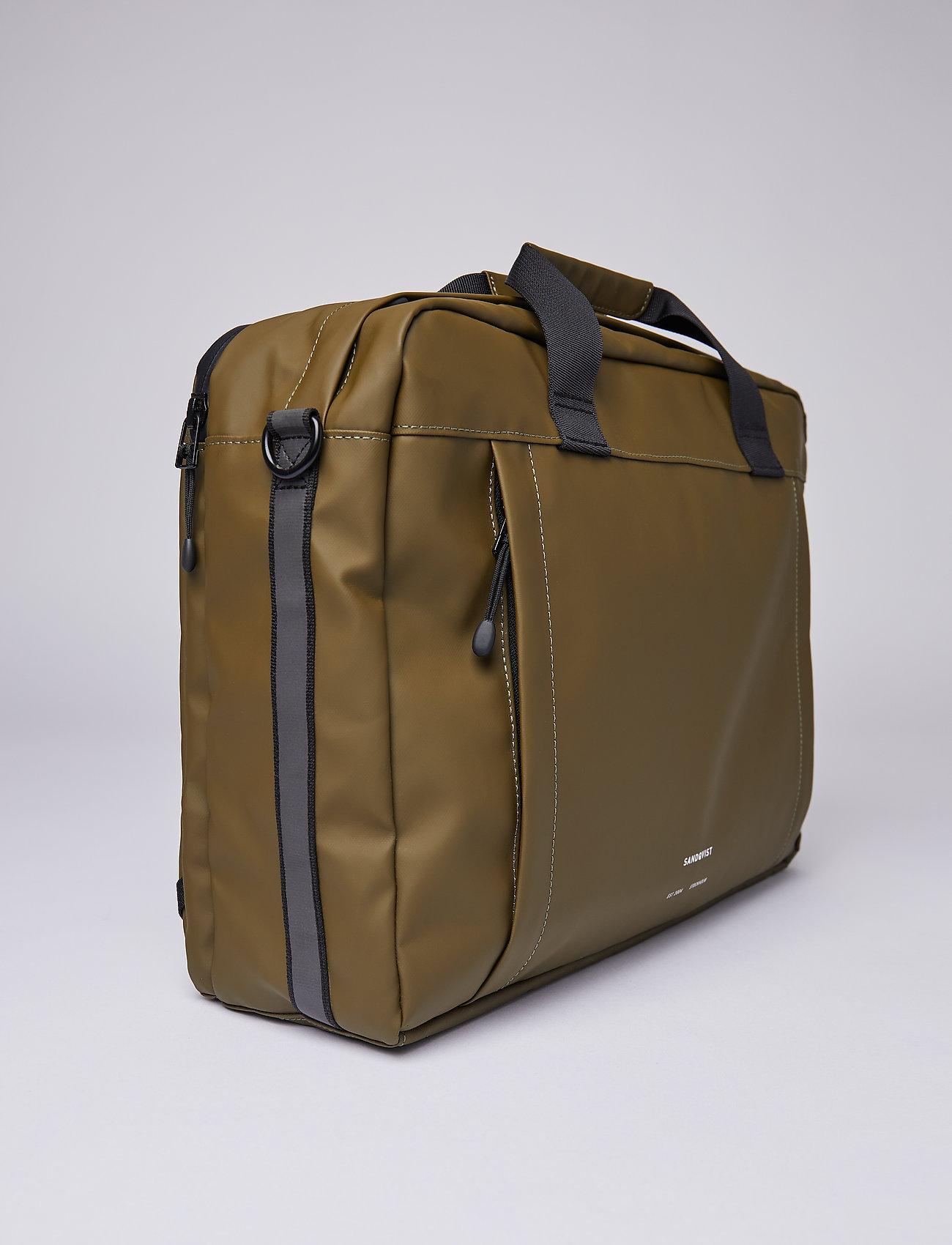 SANDQVIST - DAL - laptop-väskor - olive - 6