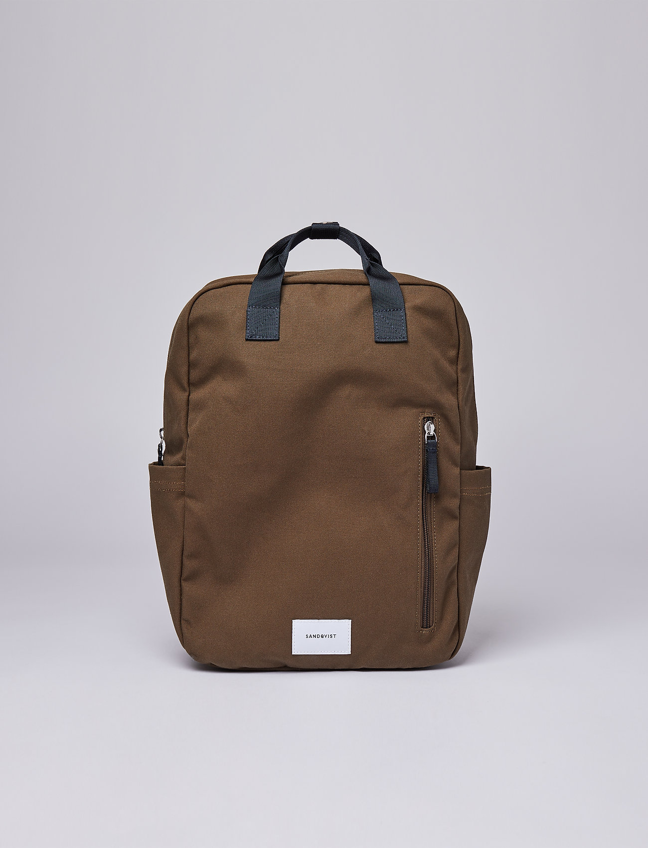 SANDQVIST - KNUT - sacs a dos - olive with navy webbing - 0
