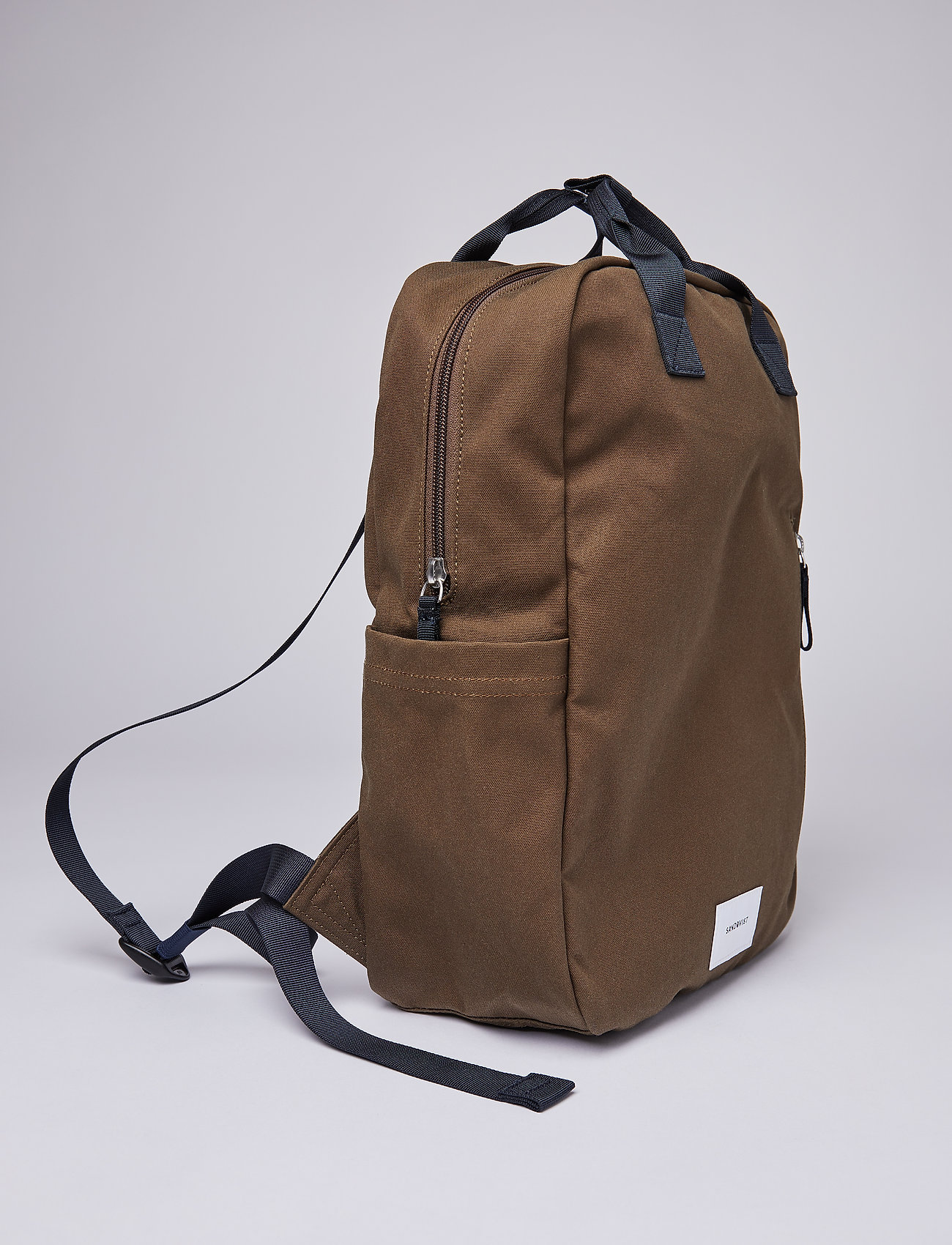 SANDQVIST - KNUT - sacs a dos - olive with navy webbing - 7