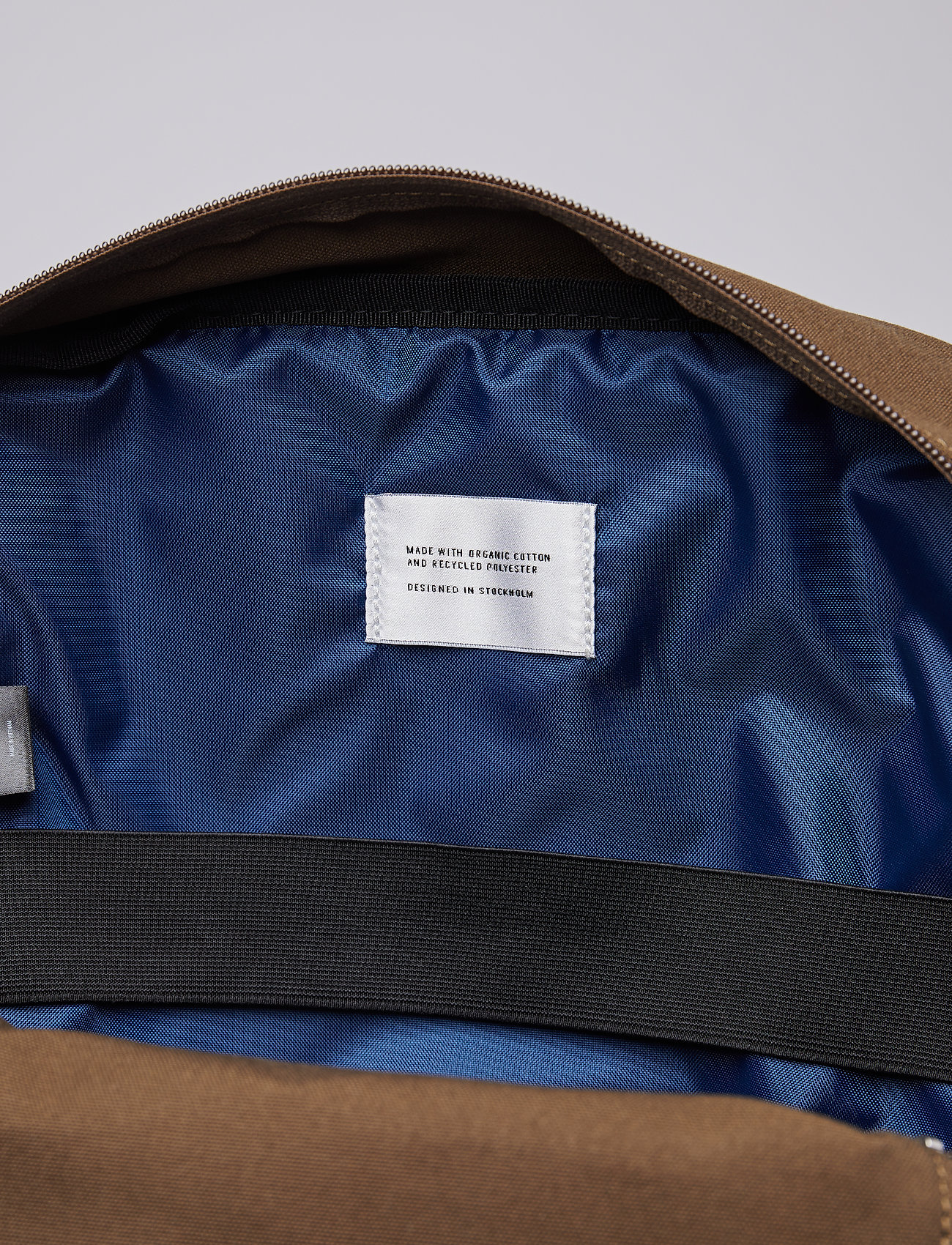 SANDQVIST - KNUT - sacs a dos - olive with navy webbing - 9
